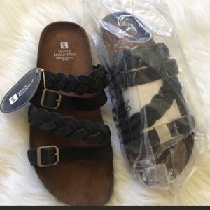 White mountain braided sandals